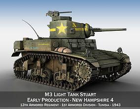 M3 Light Tank Stuart - New Hampshire 4 3D us