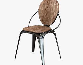 zuiver louix chair black 3D