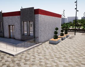 3D Model for a restaurant of a secondary school