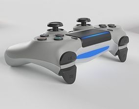 Sony PlayStation 4 DualShock Controller Silver 3D model