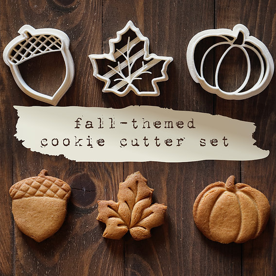 Fall-Themed Cookie Cutter Set
