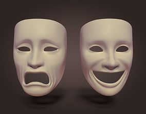 3D model game-ready Theater Mask
