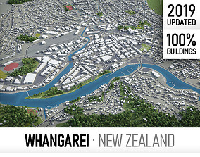 3D model Whangarei - city and surroundings