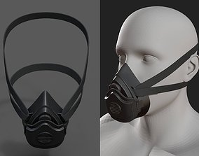 Gas mask helmet 3d safety isolated fantasy human realtime
