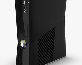 Microsoft Xbox 360 Slim 3D model