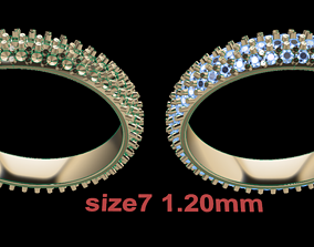3D print model Dainty Cluster Diamond Infinity Band Size7