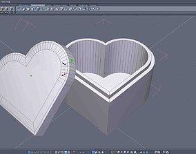 Heart-Shaped Gift Box 3D