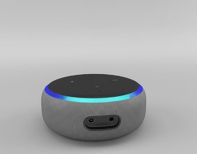 Amazon Echo Dot 3rd Generation 2018 - Heather Gray 3D