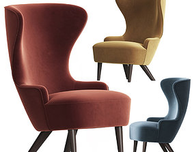 3D Wingback Micro Chair Tom Dixon