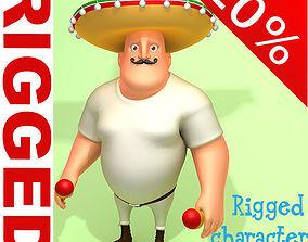 Mexican man Cartoon Rigged 3D
