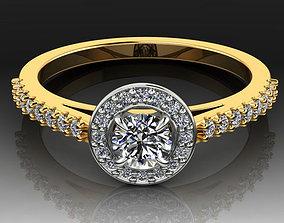 3D printable model Halo Diamond Engagement Ring