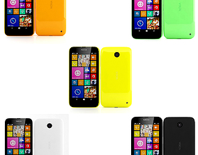 3D model Nokia Lumia 630 635 Dual SIM Collection
