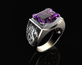 carat 3D printable model Male ring