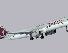 Airbus A321-200 Qatar Airways 3D asset