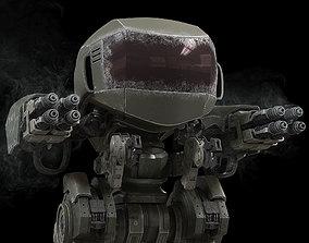 Highpoly Battle Mech 3D model