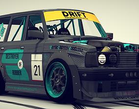 3D model Cartoon Drift Car