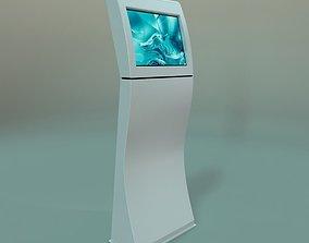 Kiosk for advertising 3D