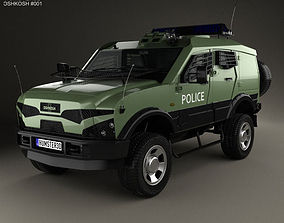 Oshkosh Sand Cat Transport 2012 3D model