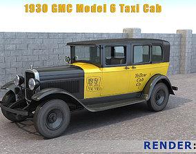 3D 1930 Gmc Model 6 Taxi Cab