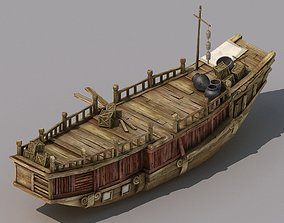 Game Traffic - Large wooden boat 2701 3D model