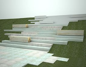Park stairs 3D model