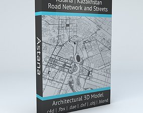 3D model Astana Road Network and Streets
