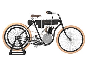 3D model Harley Davidson Bike 1903