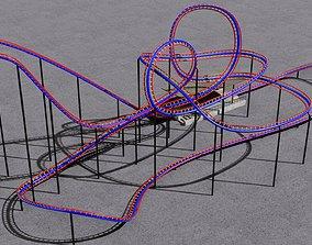 Roller coaster 3D model VR / AR ready