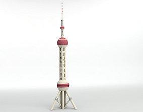 3D model Shanghai Oriental Pearl TV Tower