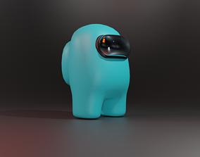 3D asset Blue among us character