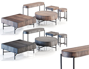 Pottery Barn Fargo Table Collection 3D
