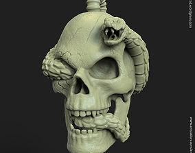 Biker snake skull vol11 Pendant 3D printable model