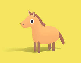 Hasty the Horse - Quirky Series 3D asset