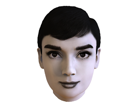 Audrey Hepburn black and white 3D model