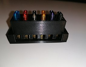3D printable model 6 Way mini blade fuse holder for DIY 1