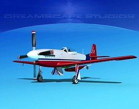 P-51 Mustang Sport Serious 3D animated