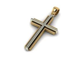 Elegance Unisex Golden Cross 3D printable model
