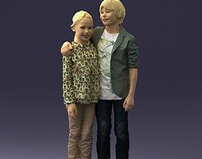 3D printable model Couple of kids 0332