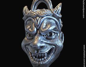 3D printable model orc Demon skull vol2 pendant