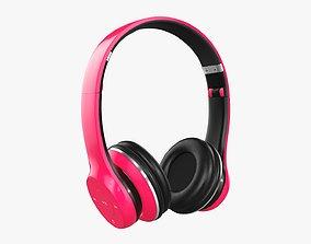 3D model Bluetooth headphones red