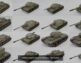USSR Lowpoly Ground Vehicles 3D model