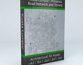 3D city Kuala Lumpur Road Network and Streets