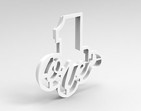 3D printable model numbers cookie cutter 1
