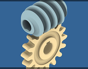 3D printable model part Worm Gear Collection 02