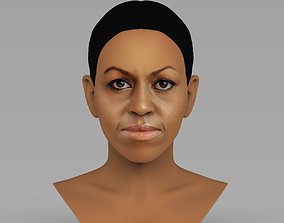Michelle Obama bust ready for full color 3D printing
