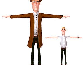 3D model Detective Cartoon