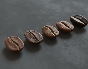 Coffee bean 3D asset