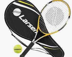 Tennis Racket Larsen 300A 3D model