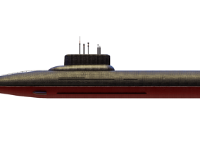 Typhoon Class Submarine Project 941 or Akula 3D asset