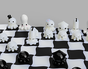 3D printable model Chess with kawai octopus design
